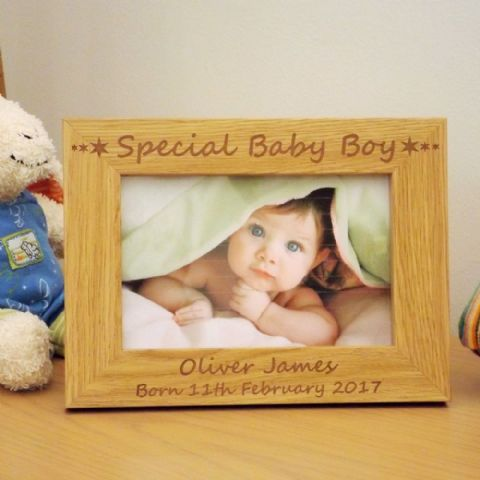 Special Baby Boy Wooden Photo Frame Birth Christening Day Gift